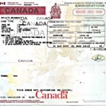 Example of a Canadian study permit