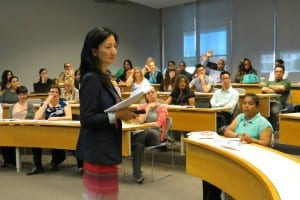 A staff and faculty training session led by Diana Ning, York International's Manager, International Student and Scholar Services.
