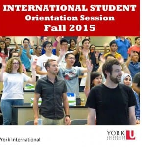 New International Student Orientation Session @ York Lanes, room 242 (second floor)