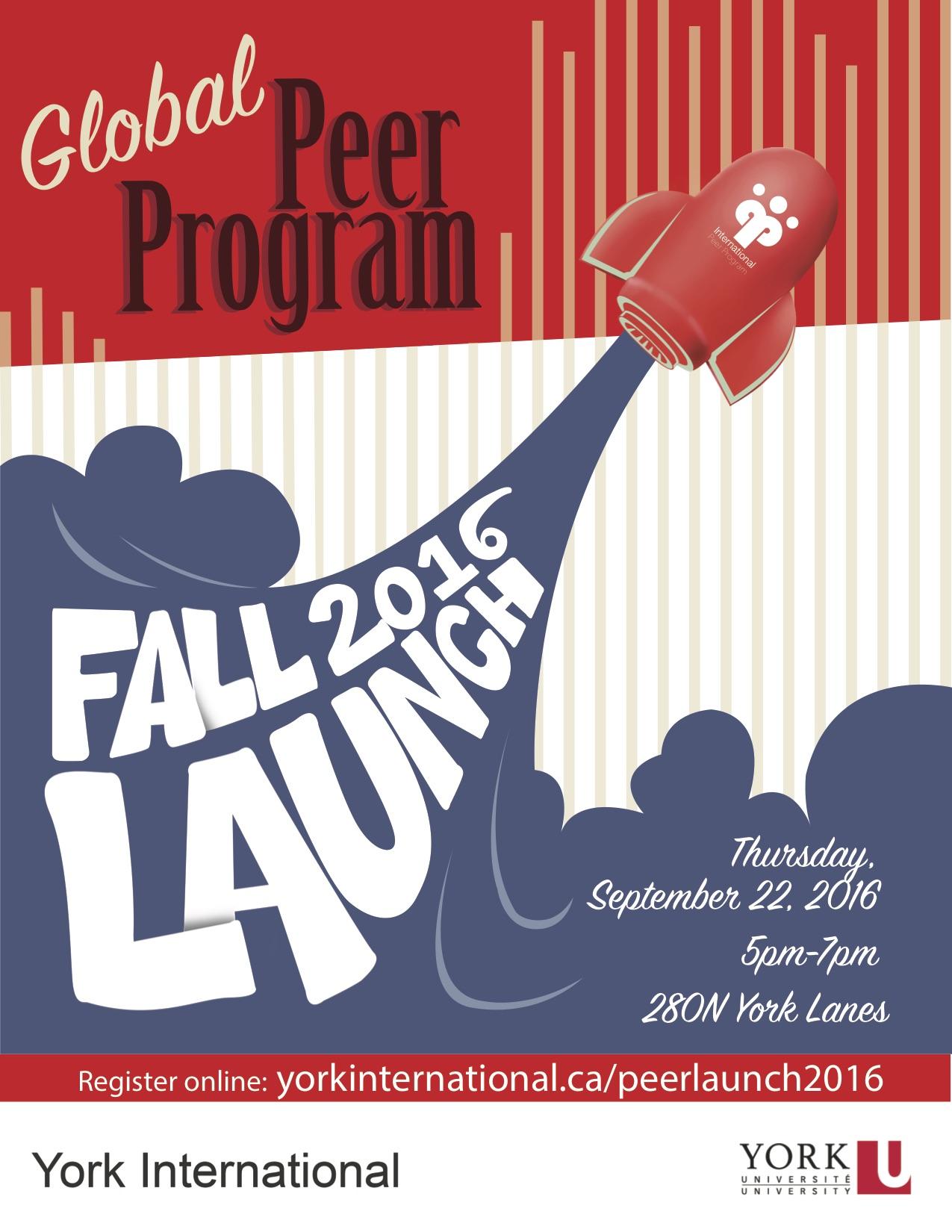 peer program launch poster