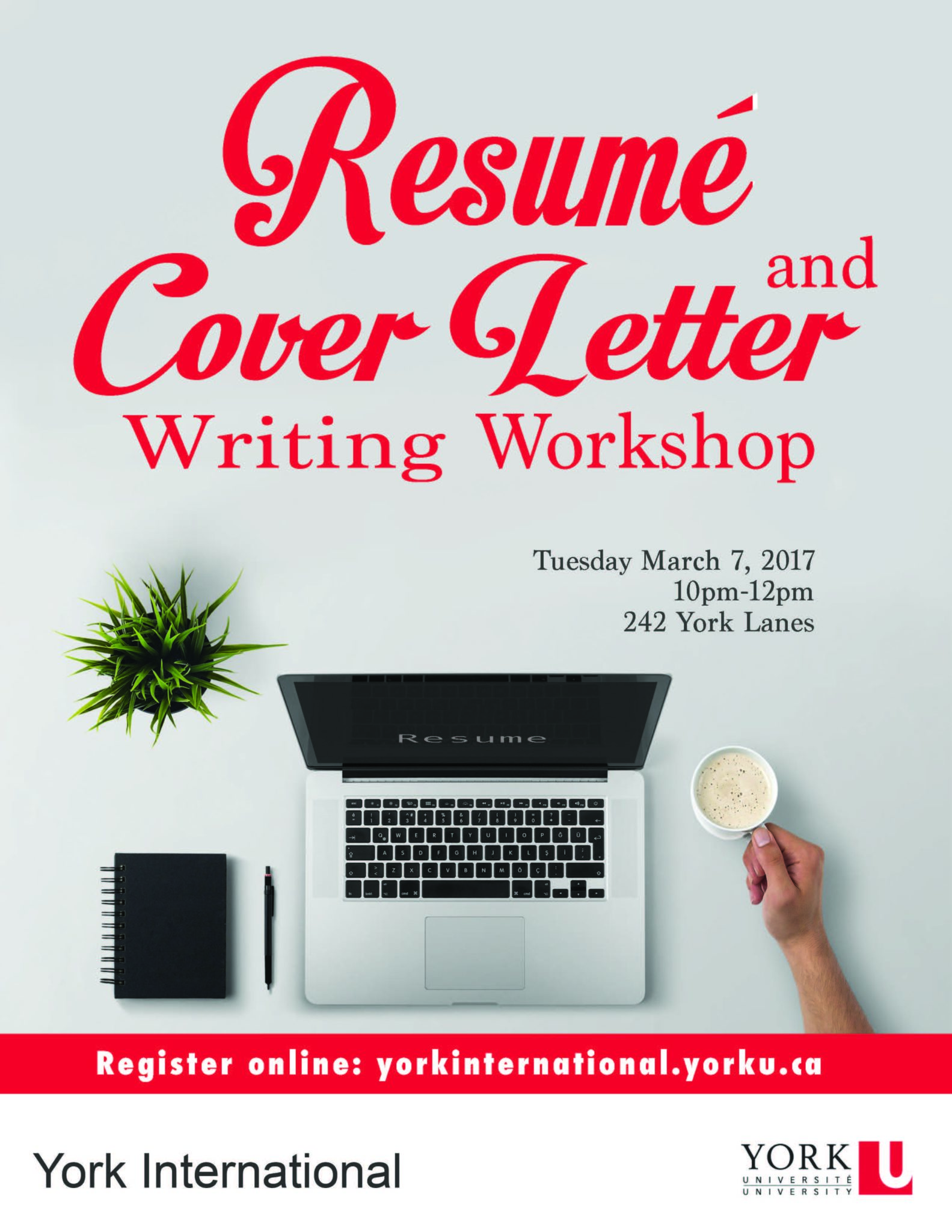 Resumé & Cover Letter Writing workshop | York International