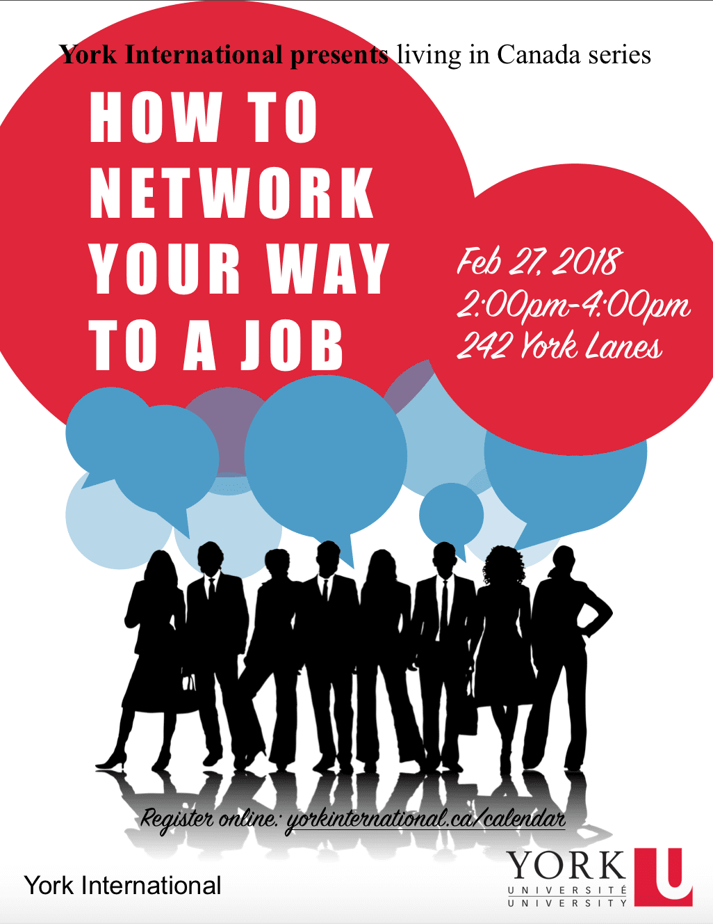 How to Network Your Way to a Job Workshop @ 242 York Lanes