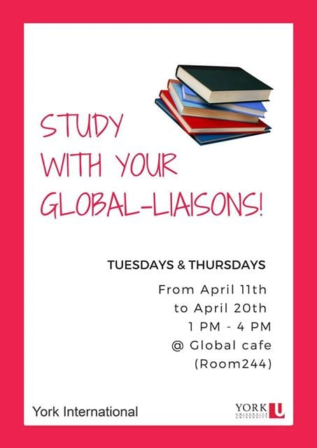 Study Sessions with the Global Liaisons @ The Global Cafe