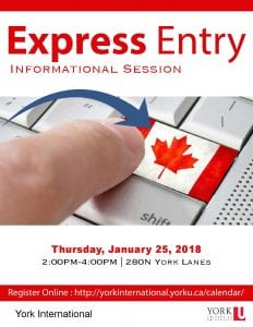 Express Entry Information Session @ 280N York Lanes