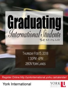 Graduating International Students Seminar @ 280N York Lanes