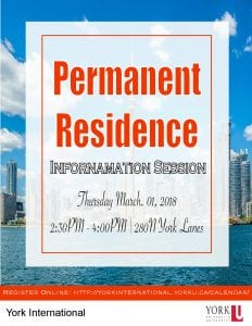 Permanent Residence Information Session @ 280N York Lanes