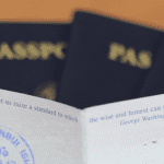 Passaports Being Displayed