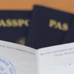 Passaports Being Displayed