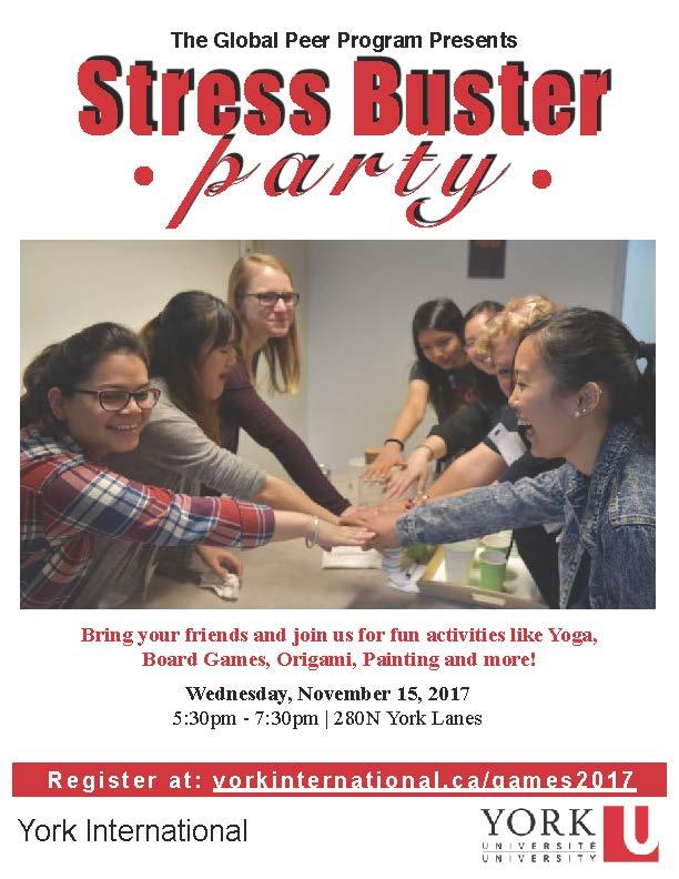 Global Peer Program Stressbuster Party @ 280N York Lanes