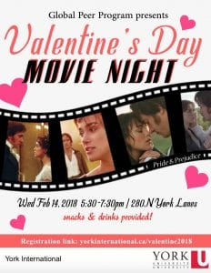 Global Peer Program Valentine's Movie Night @ 280N York Lanes  | Toronto | Ontario | Canada