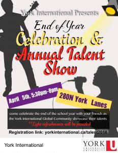 Global Peer Program Talent Show @ 280N York Lanes