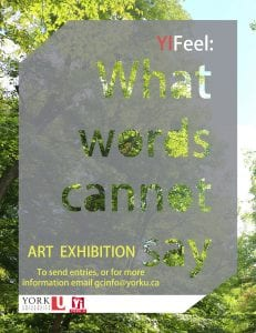"Accepting submissions for ""What words cannot say: An Art Exhibition"" as part of #YIFeel"