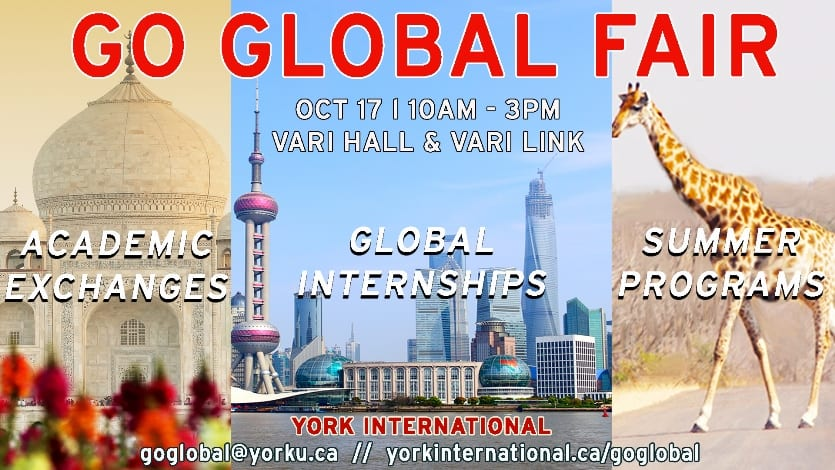 Go Global Fair - Study or Work Abroad @ Vari Hall and Vari Link, Keele Campus