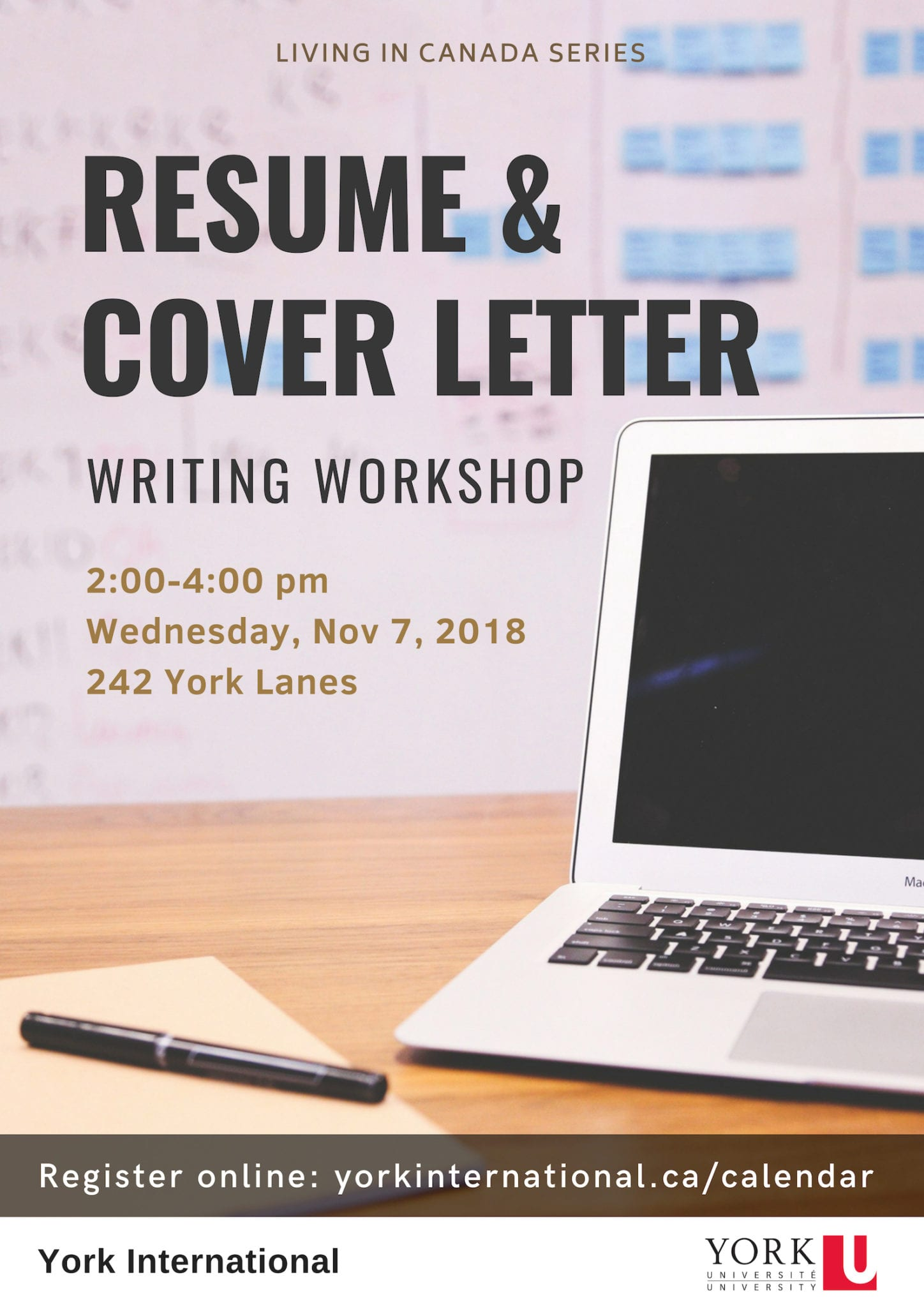 Resumé and Cover Letter Writing Workshop @ 242 York Lanes