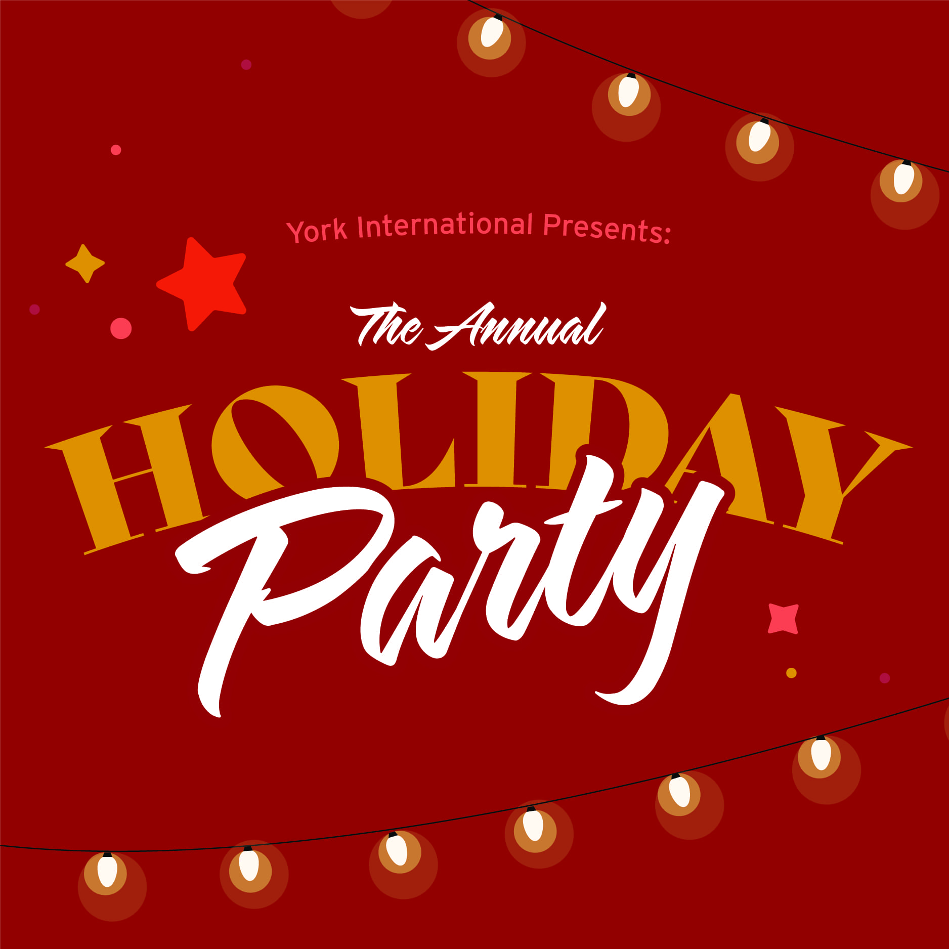 International Student Holiday Party @ Convention Hall: New Student Centre (B&C)