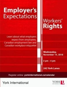 Employer's Expectations and Workers' Rights @ 242 York Lanes