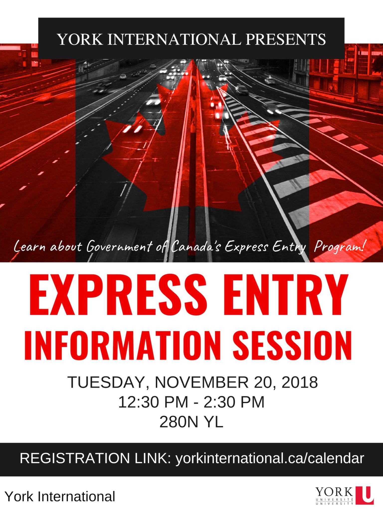 Express Entry Information Session @ 280N York Lanes