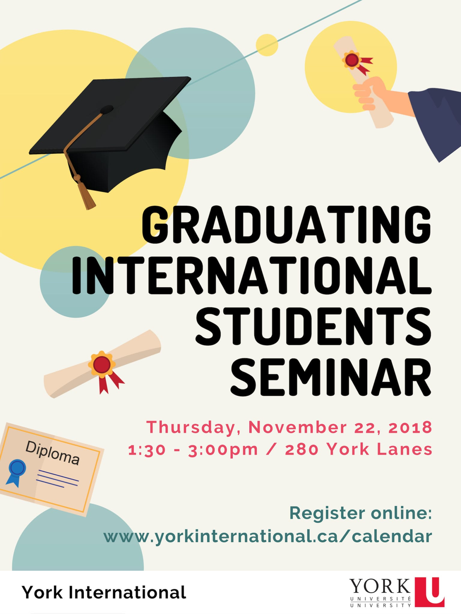 Graduating International Students Seminar @ 280N York Lanes