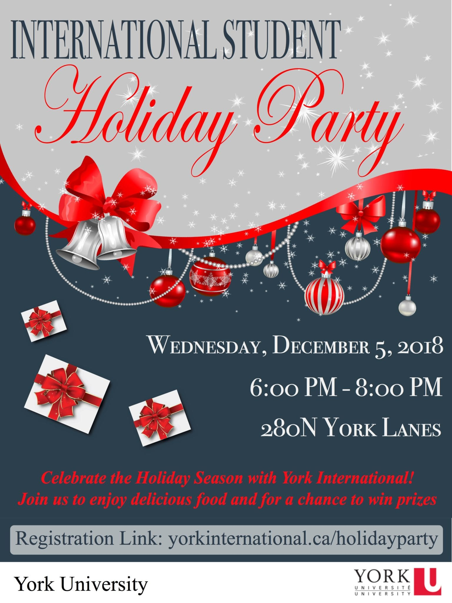 International Student Holiday Party @ 280N York Lanes