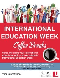 Coffee Break for International Education Week