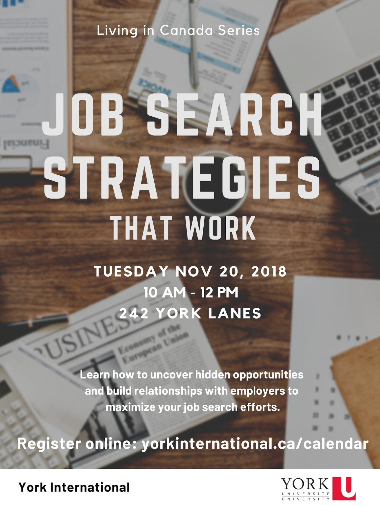 Job Search Strategies that Work @ 242 York Lanes