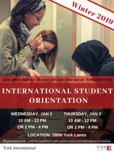 New International Student Orientation @ 280N York Lanes