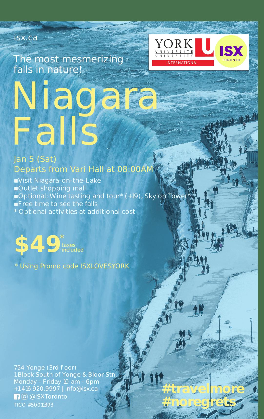 Orientation Trip to Niagara Falls @ Vari Hall