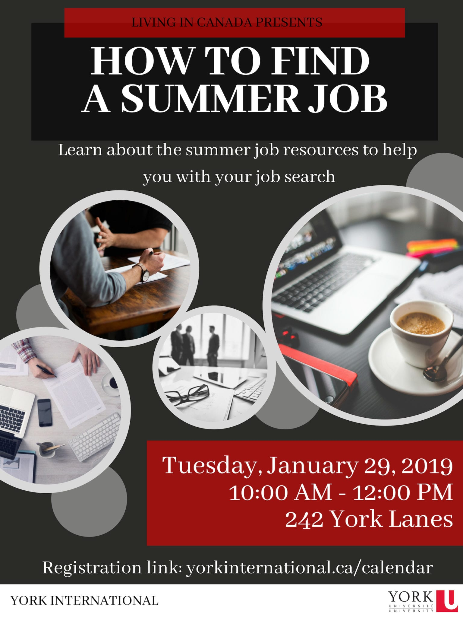 How to Find a Summer Job Workshop @ 242 York Lanes