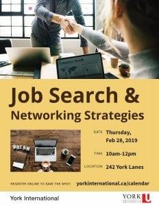 Job Search & Networking Strategies @ 242 York Lanes