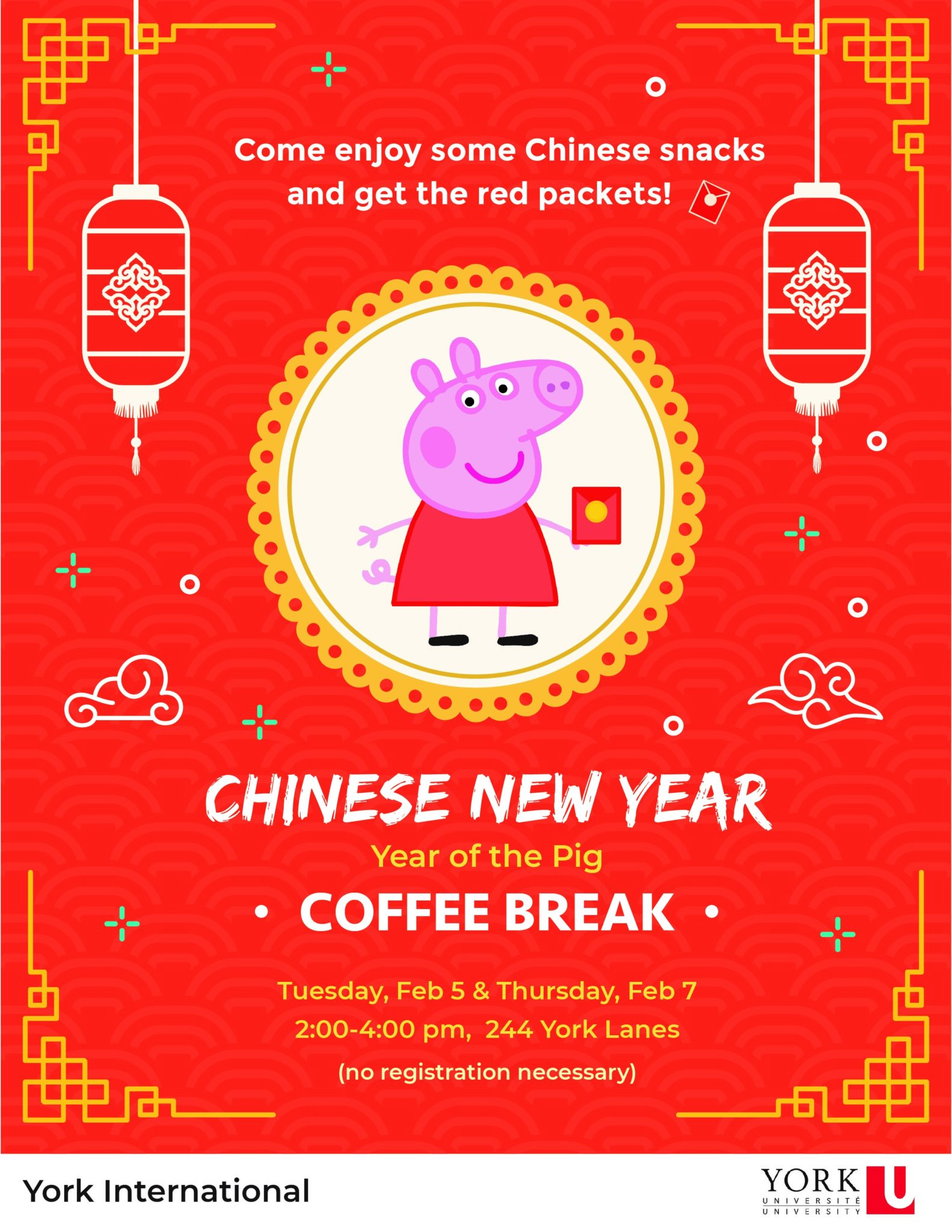 Lunar New Year Coffee Break @ Global Cafe (244 York Lanes)