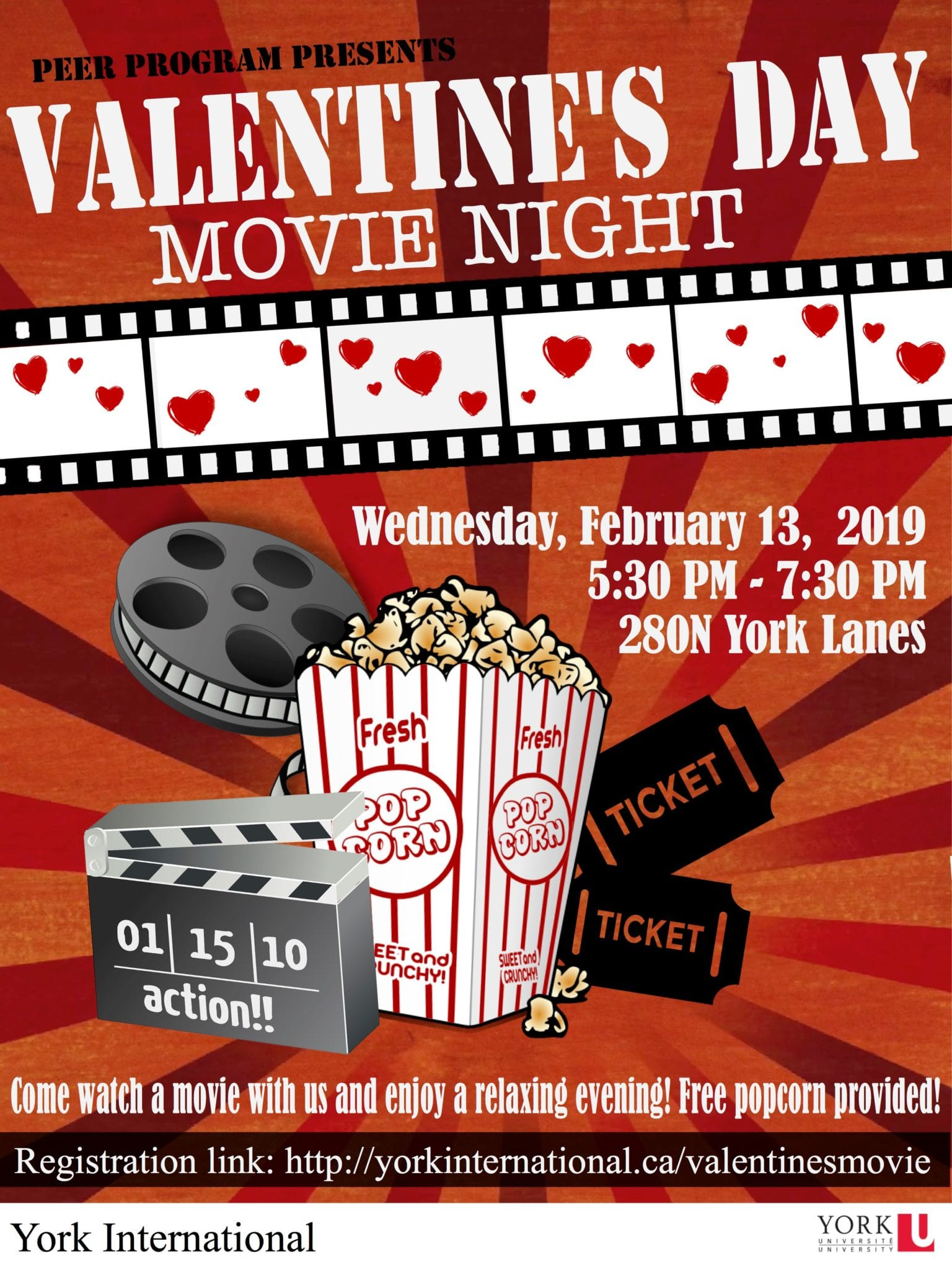 Global Peer Program Valentine's Movie Night @ 280N York Lanes