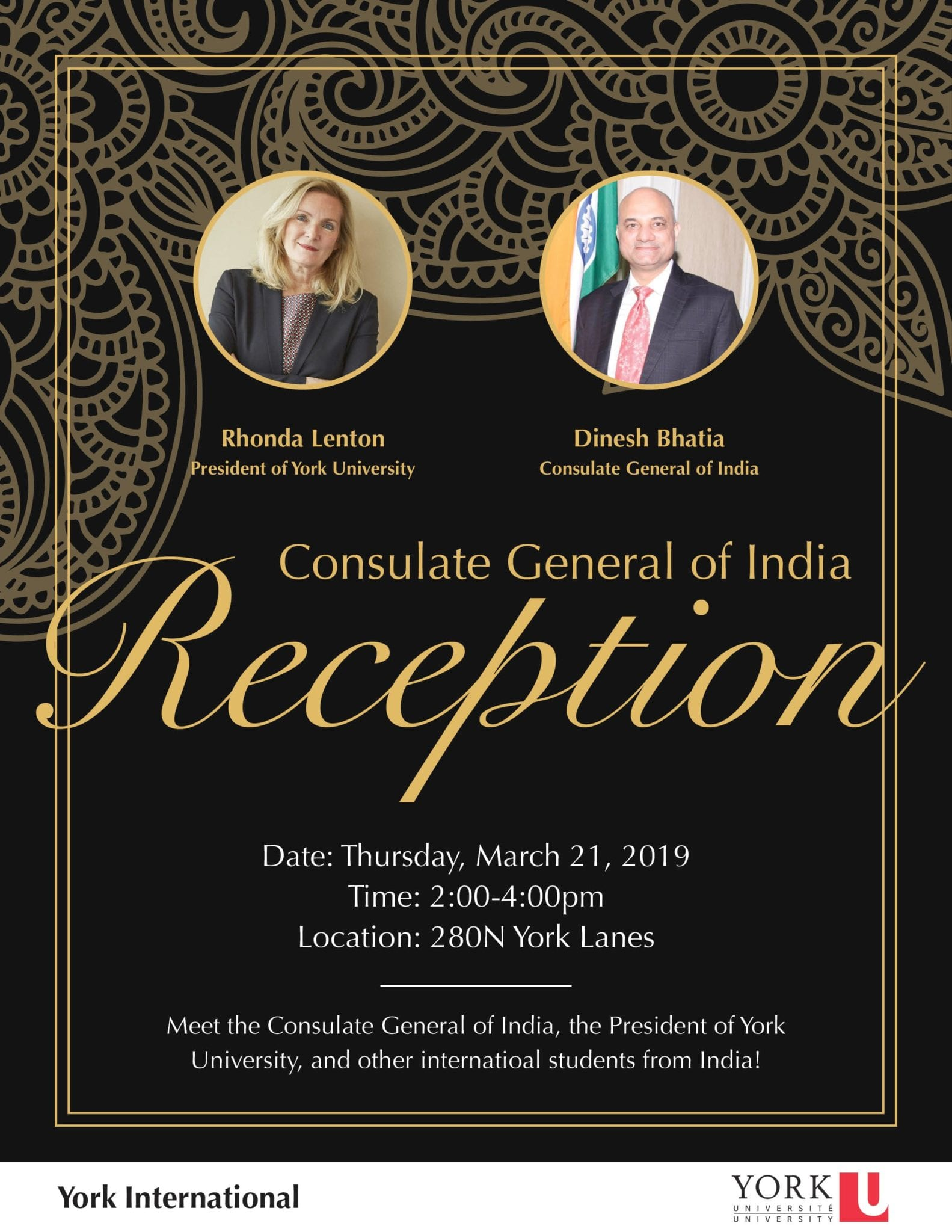 Consulate General of India Reception @ 280N York Lanes