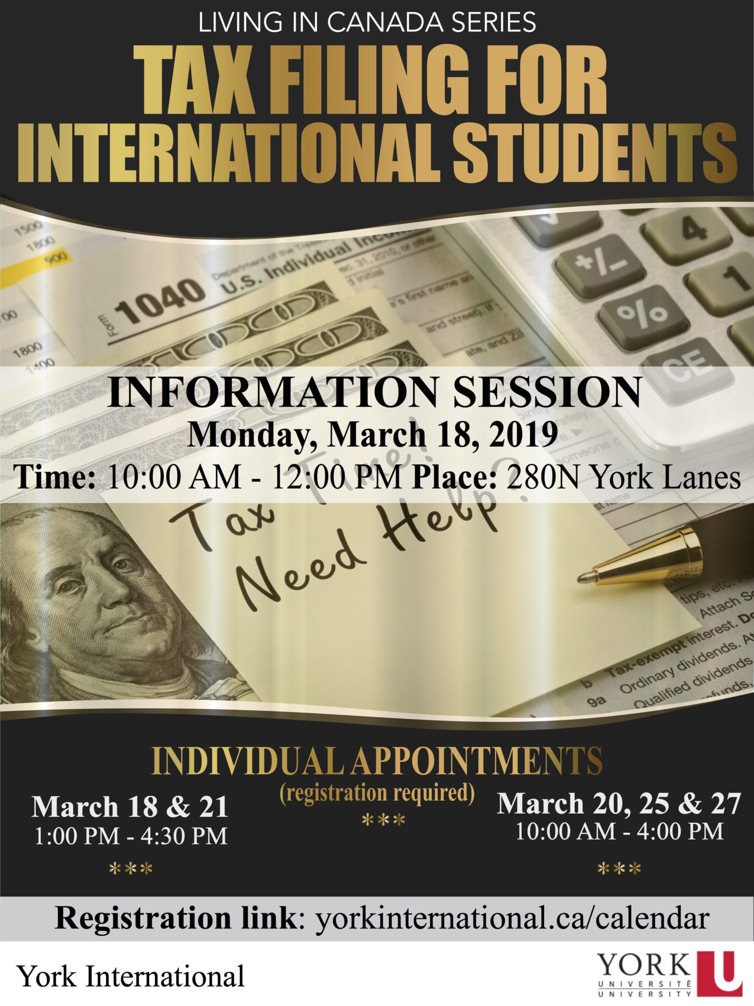 Tax Filing Appointments for International Students