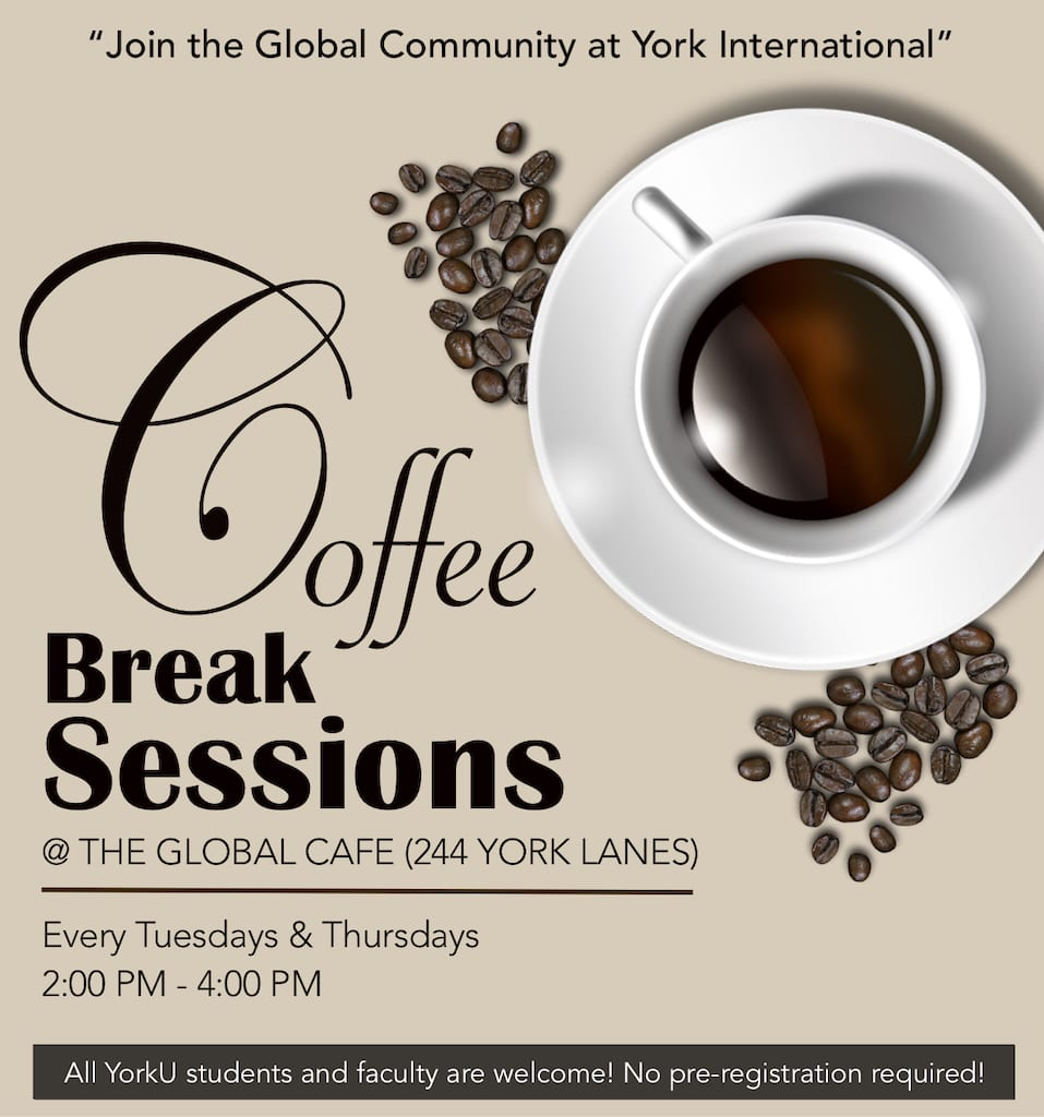 Coffee Break @ The Global Café @ The Global Café, 244 York Lanes