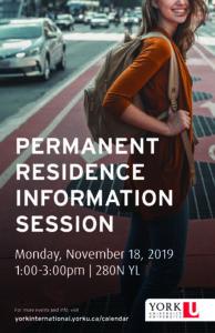 Permanent Residence Information Session @ 280N York Lanes