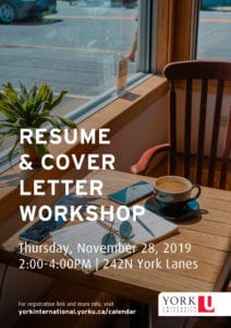 Resume Writing and Cover Letter Workshop @ 242 York Lanes
