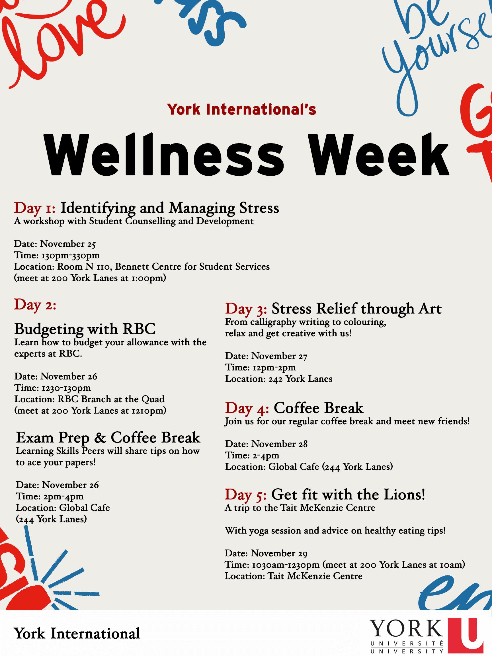 YI Wellness Week