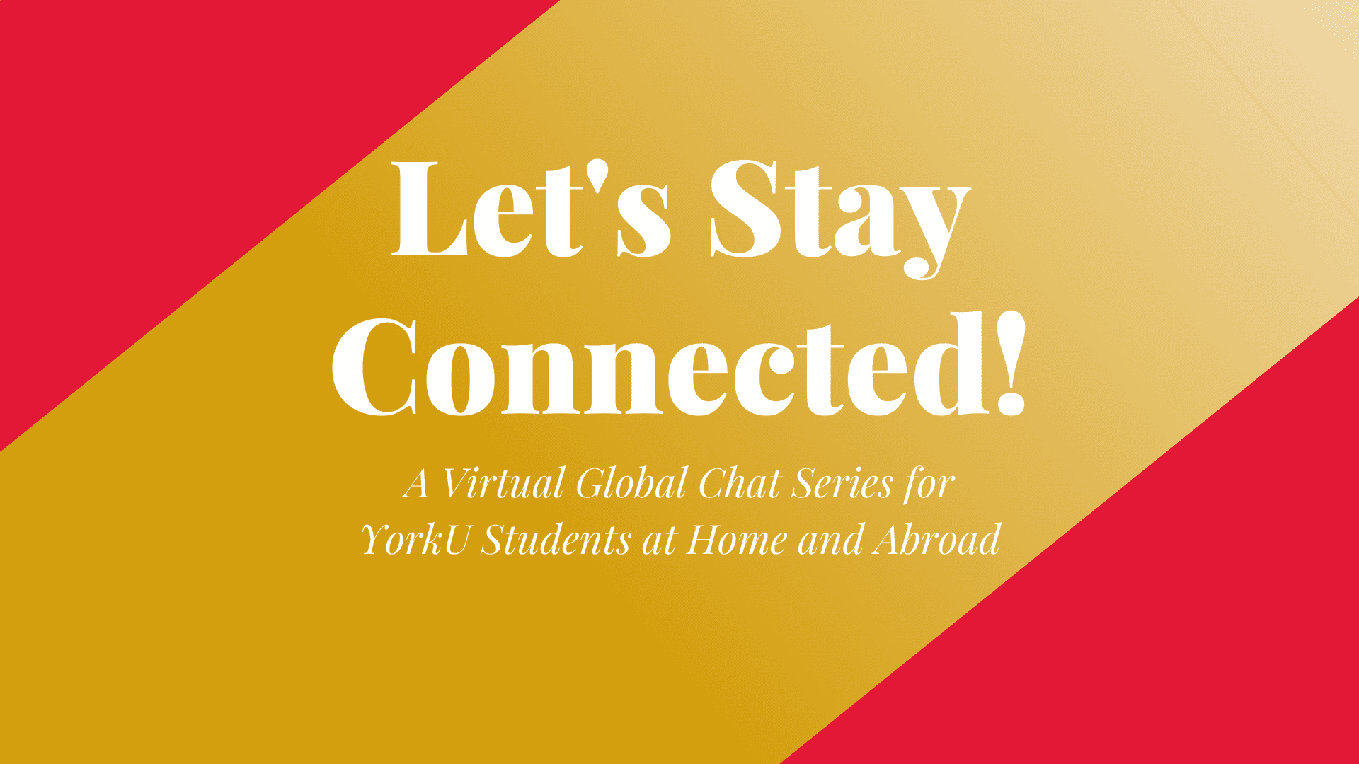 Virtual Meetup: Post-Abroad Experience