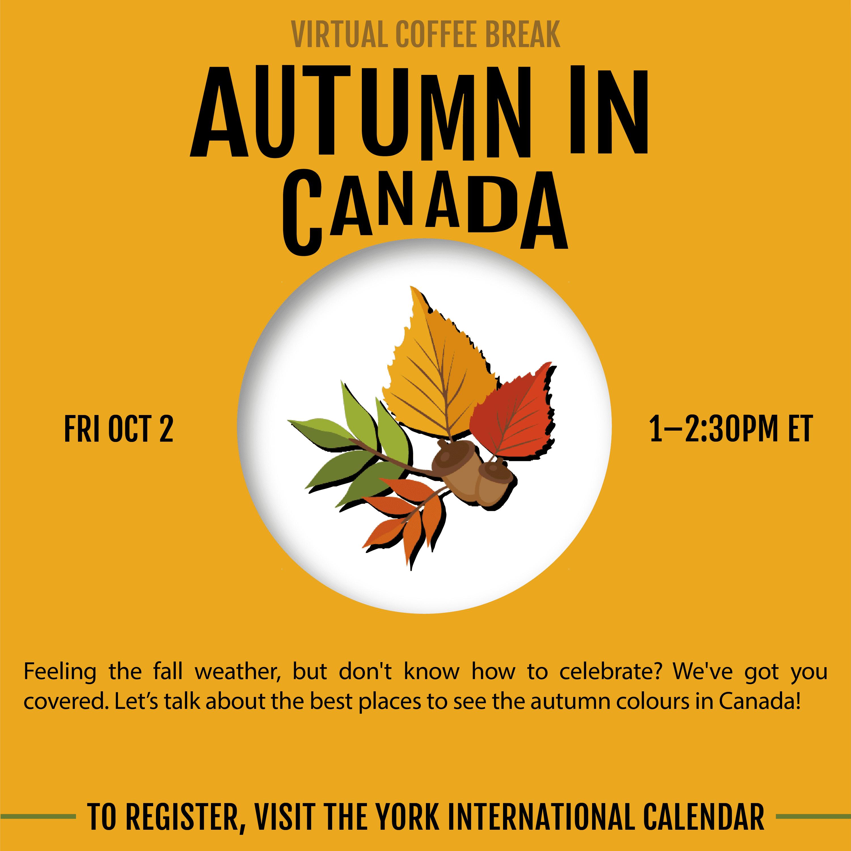 Virtual Coffee Break - Autumn in Canada @ Zoom