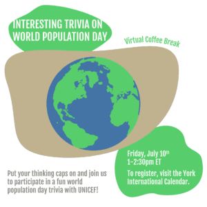 Virtual Coffee Break: Interesting Trivia on World Population Day @ Zoom