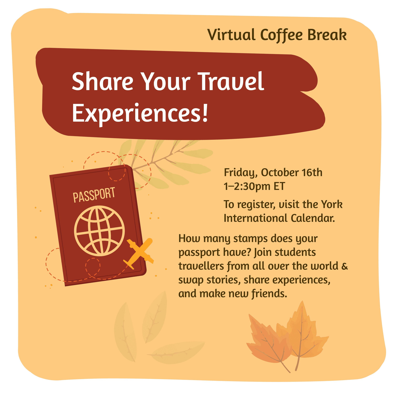 Virtual Coffee Break - Travel Experiences @ Zoom