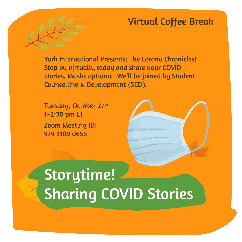 Virtual Coffee Break - Sharing COVID Stories @ Zoom
