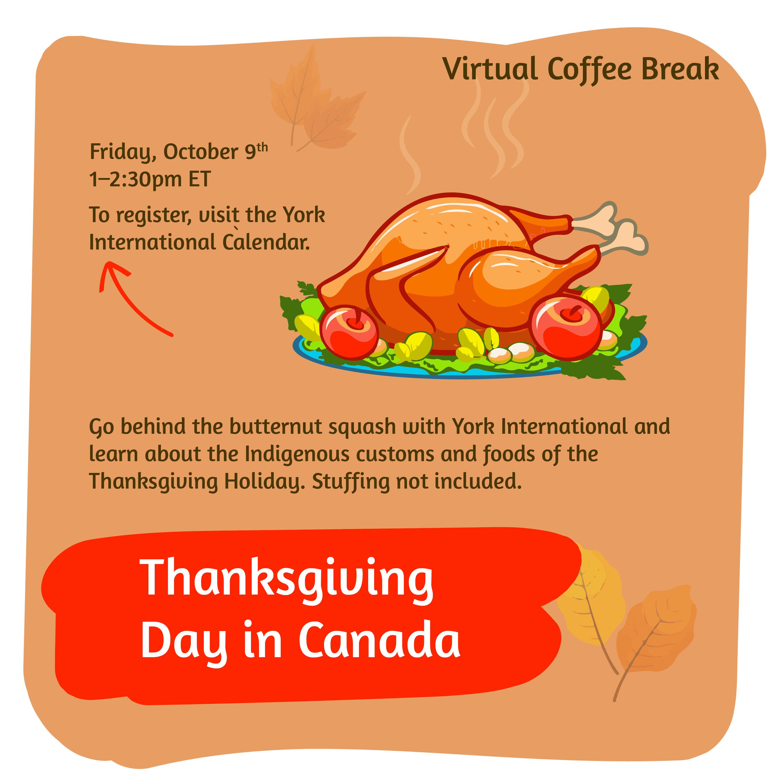 Virtual Coffee Break - Thanksgiving in Canada @ Zoom