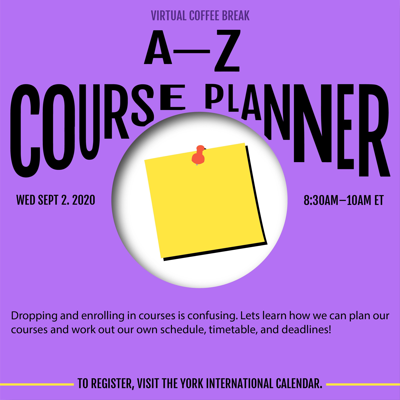 Virtual Coffee Break - A-Z Course Planner @ Zoom