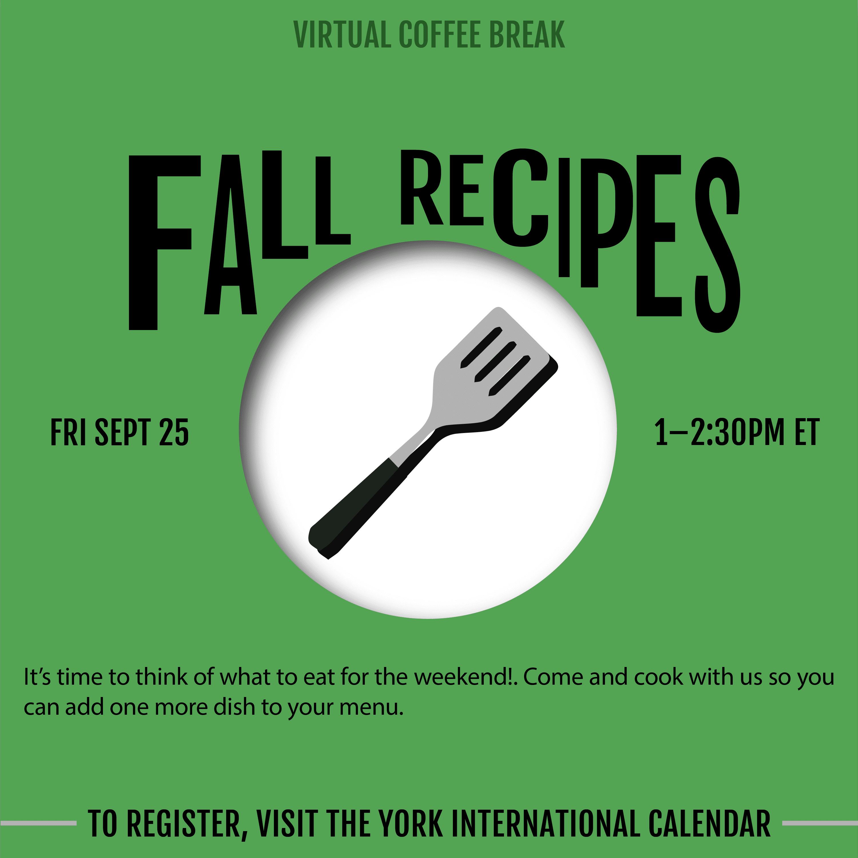 Virtual Coffee Break - Fall Recipes @ Zoom