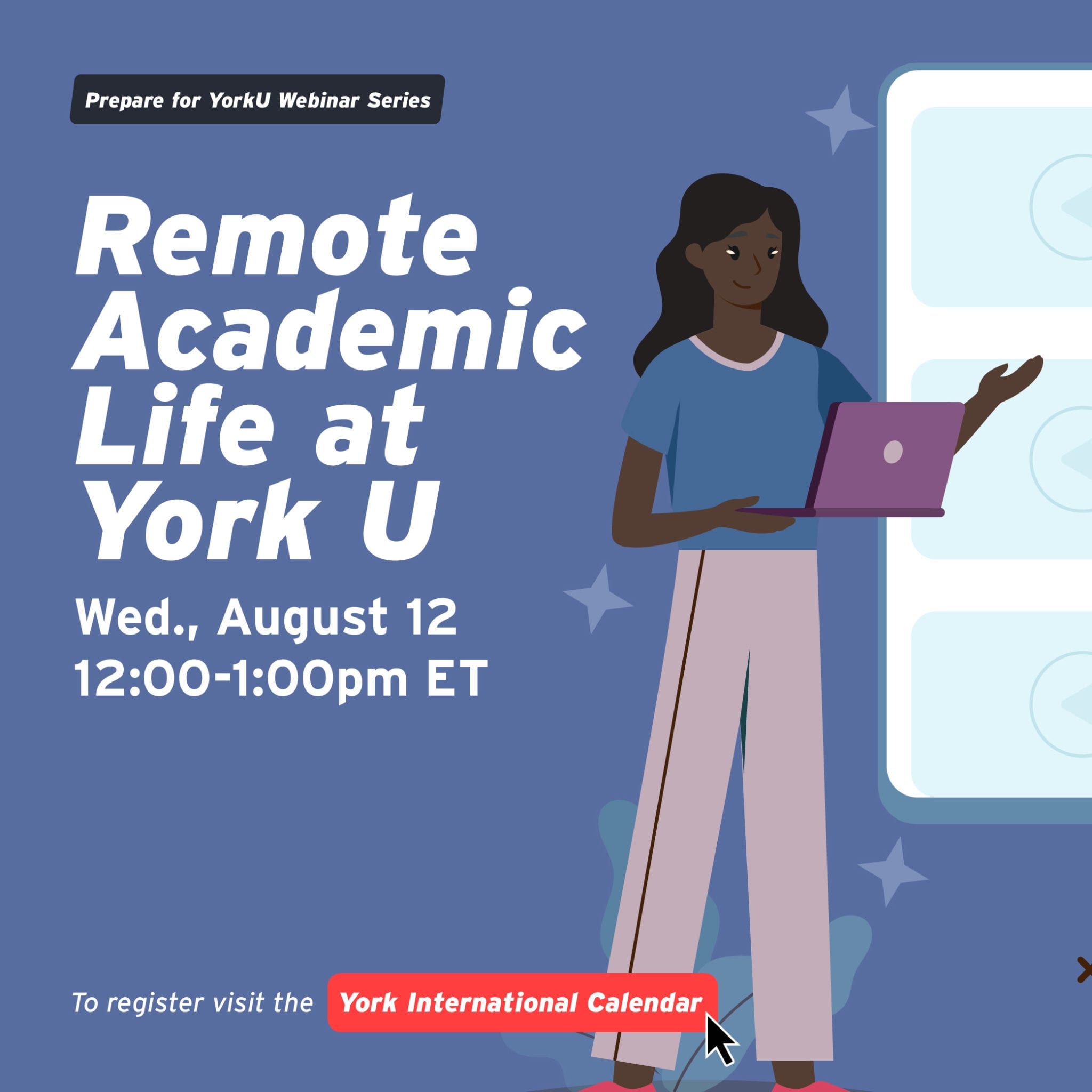 Prepare for YorkU Webinar: Remote Academic Life at York U @ Virtual