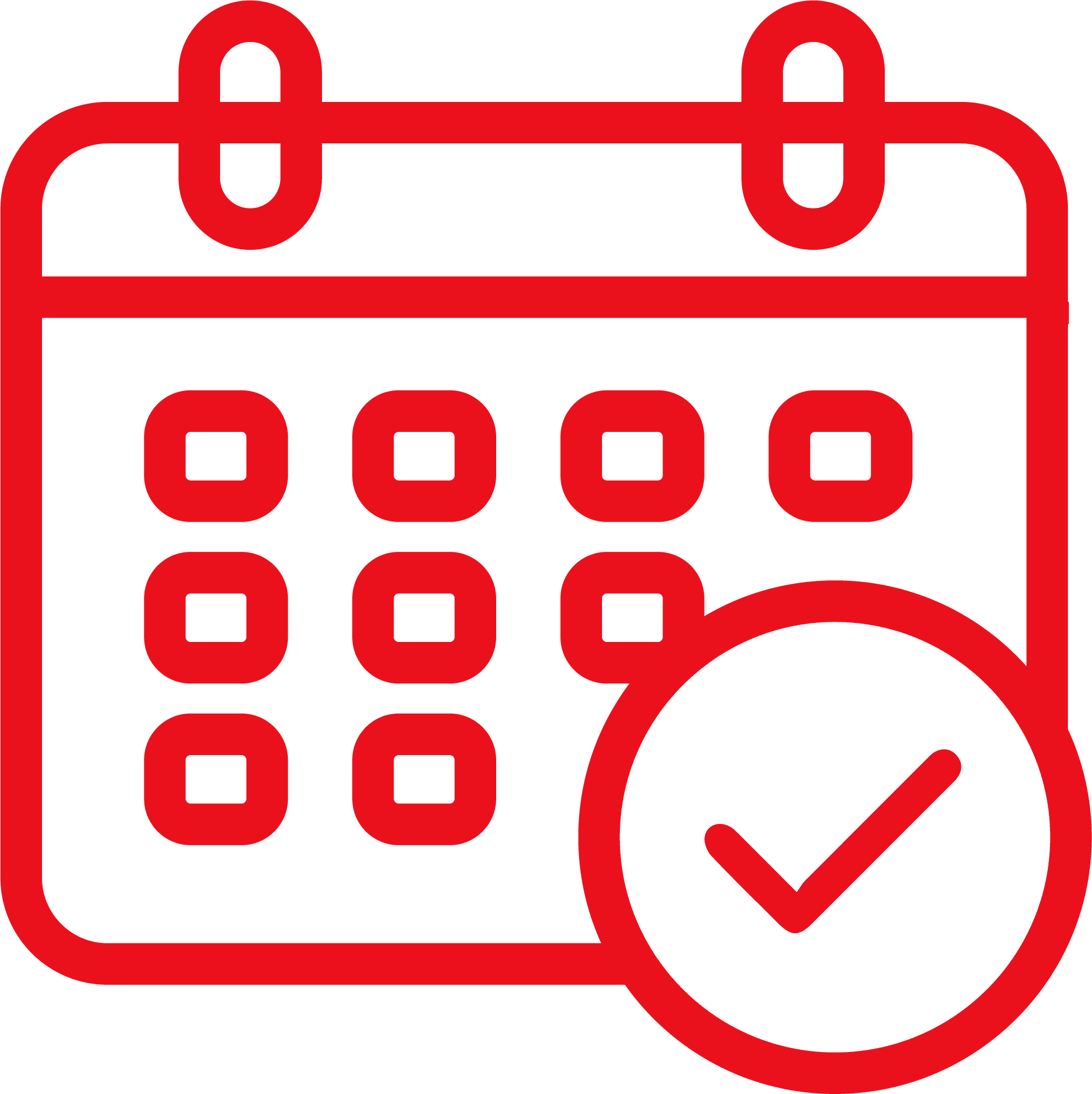 Calendar and checkmark icon