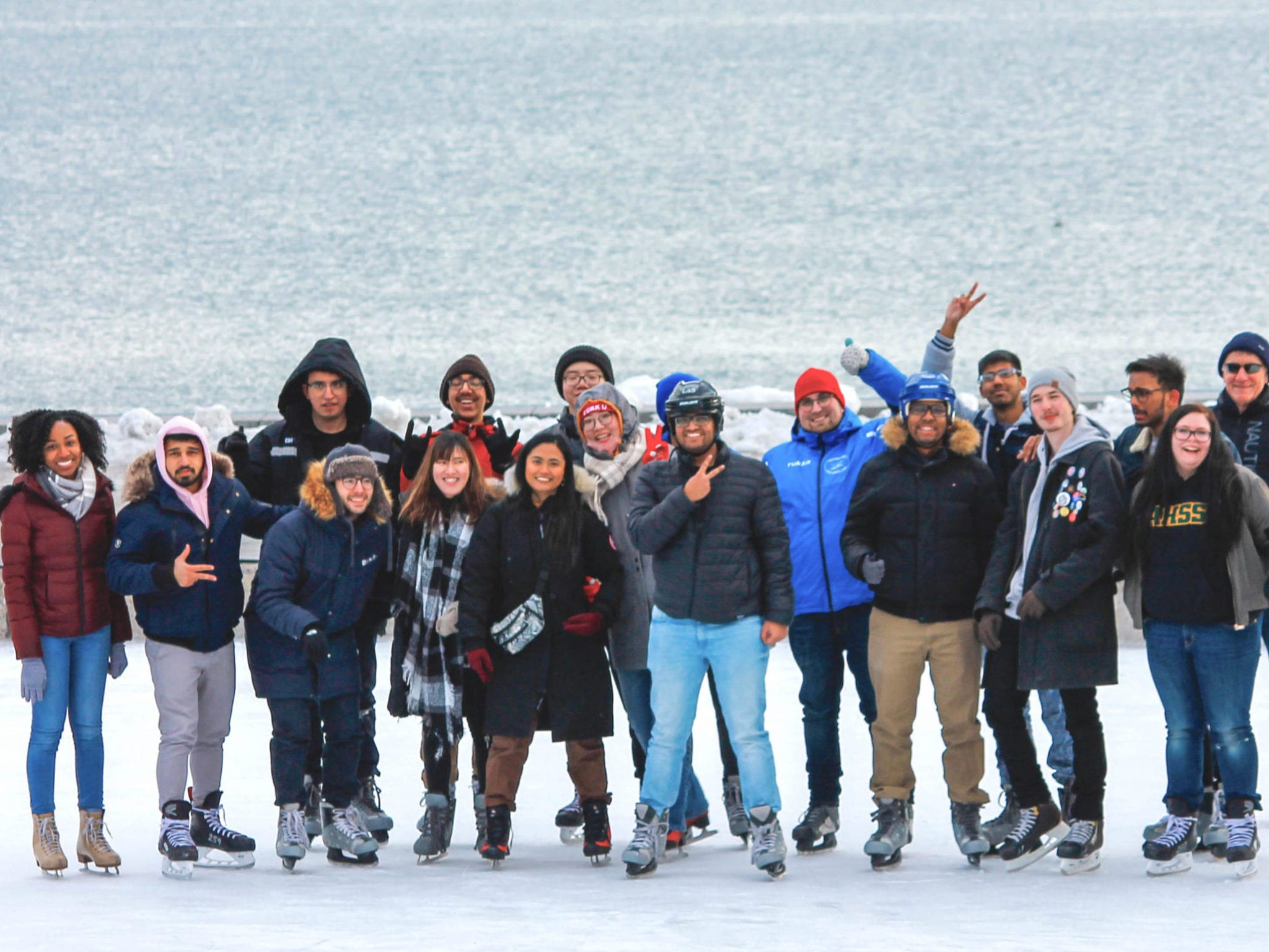 Group of people skating