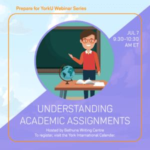 Prepare for YorkU: Understanding Academic Assignments @ Virtual