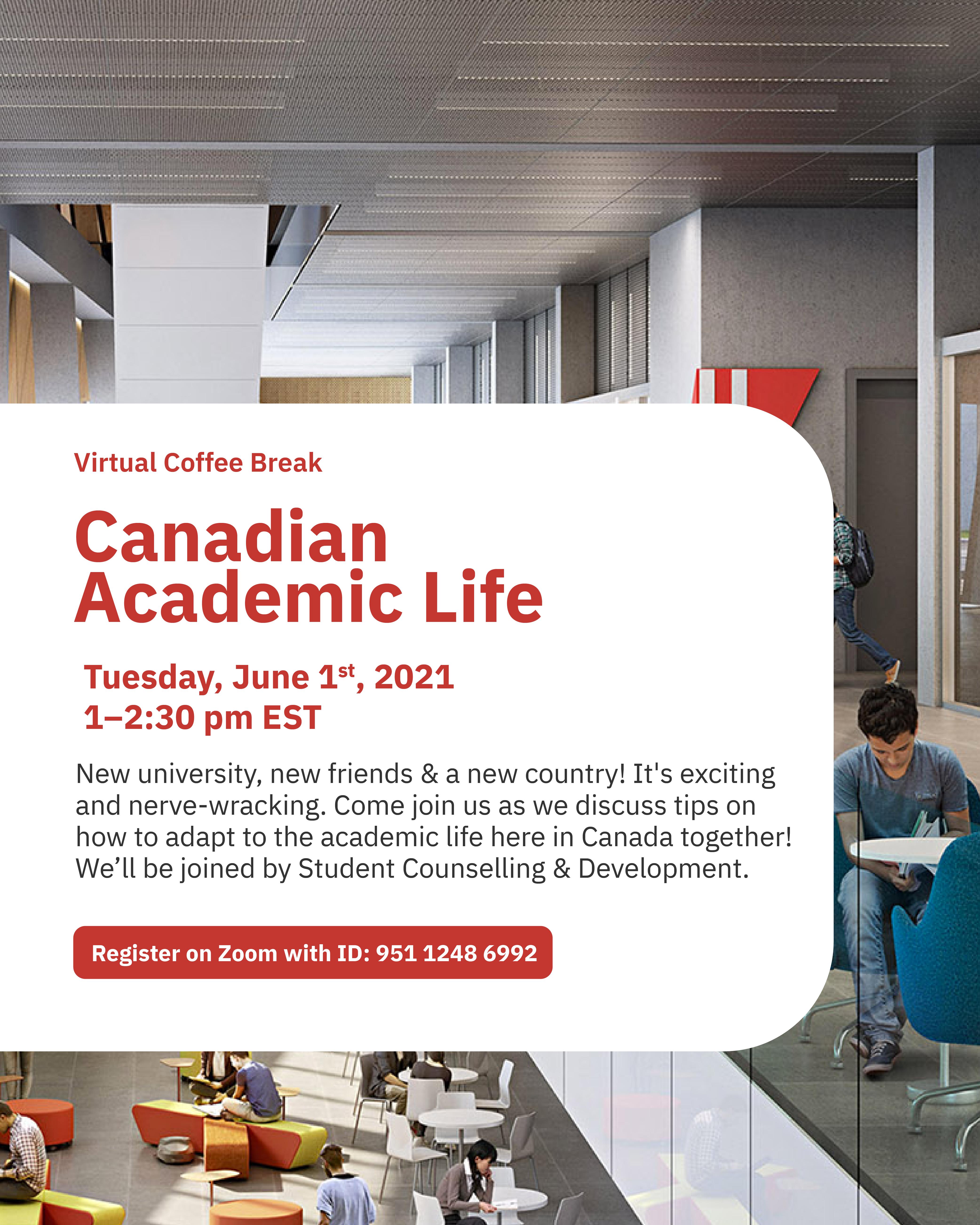 Virtual Coffee Break: Canadian Academic Life @ York International
